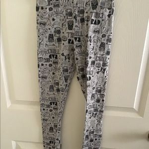 Girls Carters graphic tights size 7